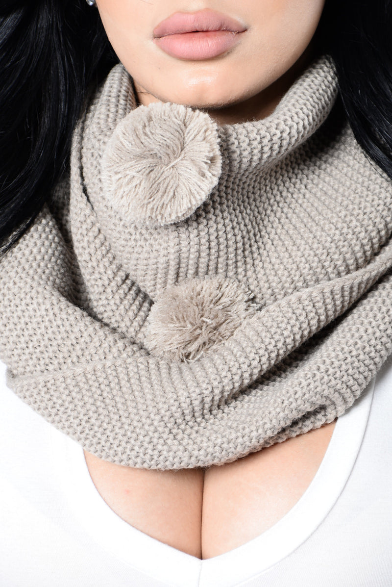 3rd Time's The Charm Infinity Scarf - Khaki
