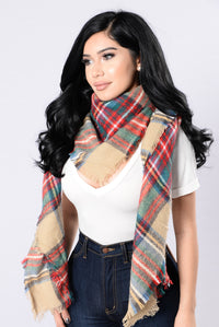 Brings Back Memories Blanket Scarf - Taupe