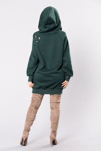 Moody Hoodie Top - Hunter Green