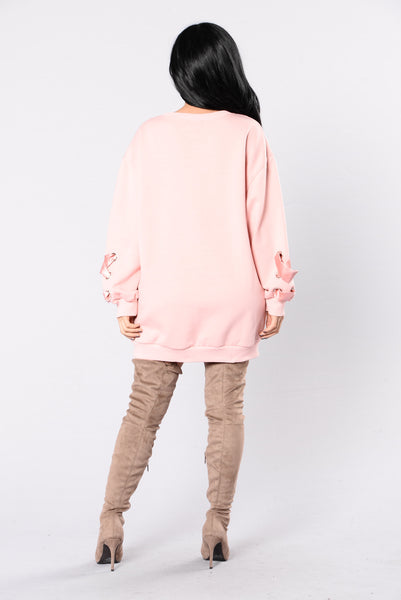 Ex Files Sweatshirt - Dusty Pink