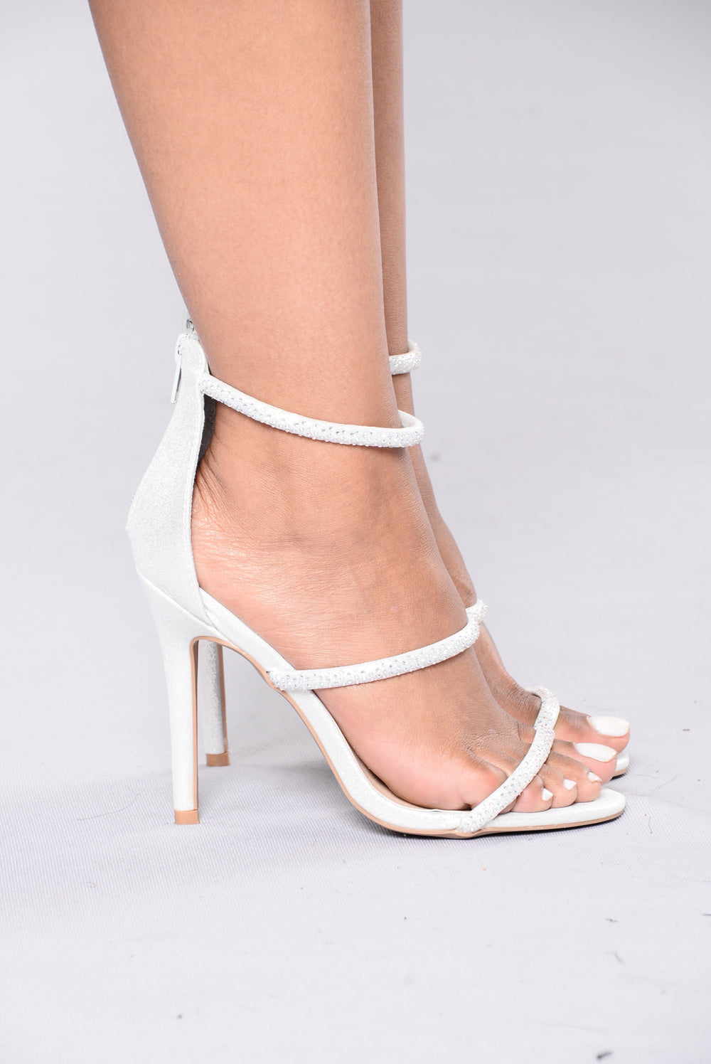 Diamond In The Sky Heels - Silver