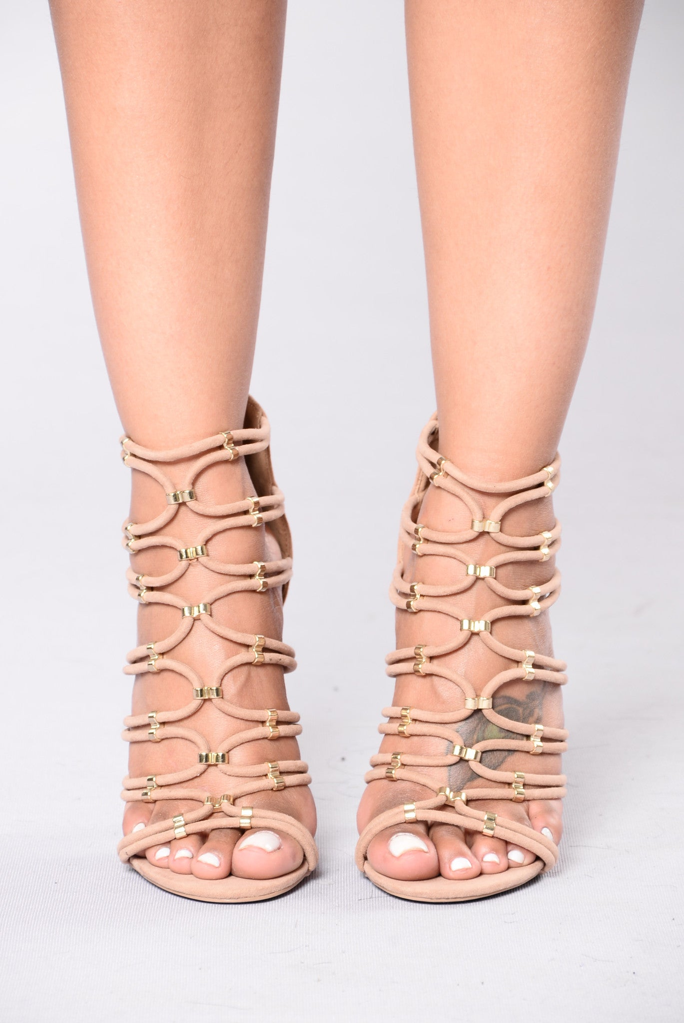 7045bb6b41e Hate That You Want Me Heel - Taupe
