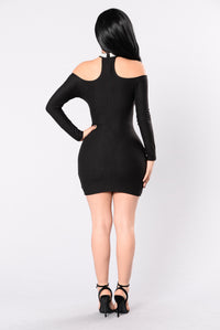 How Much Is Too Much Dress - Black