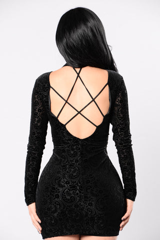 Affair Of The Heart Dress - Black