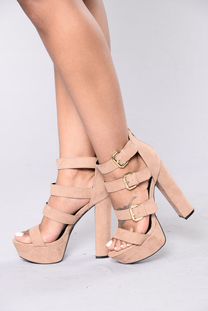 On A Pedestal Heel - Taupe