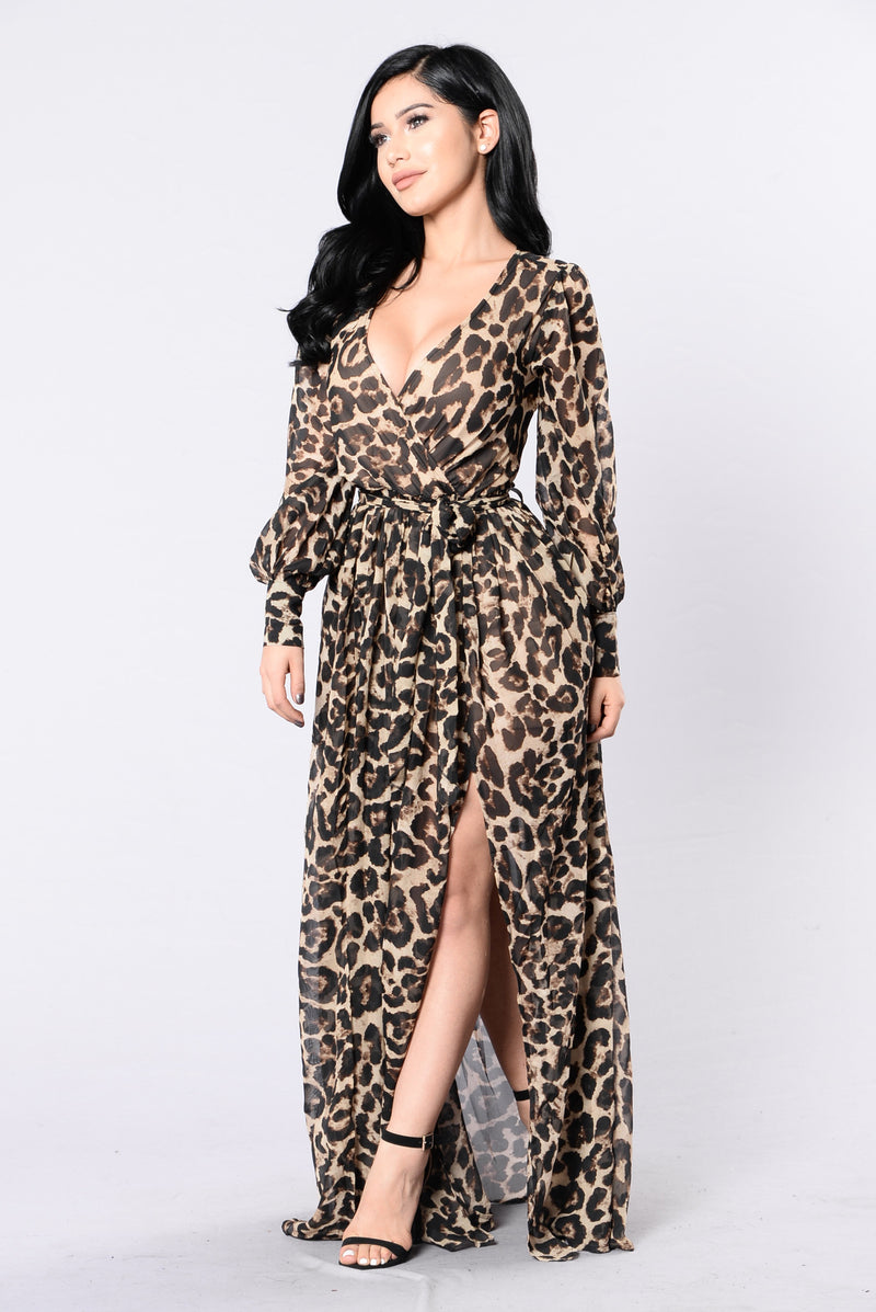 Animalistic Ways Dress - Leopard