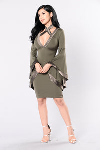Faire Lady Dress - Olive