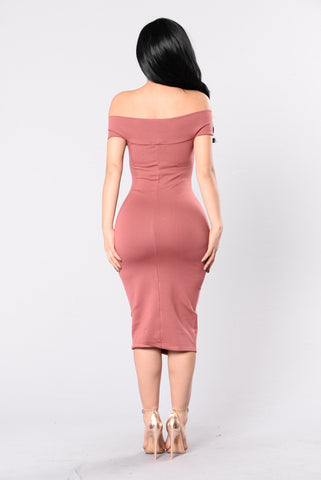 Bare With Me Dress - Red Brown