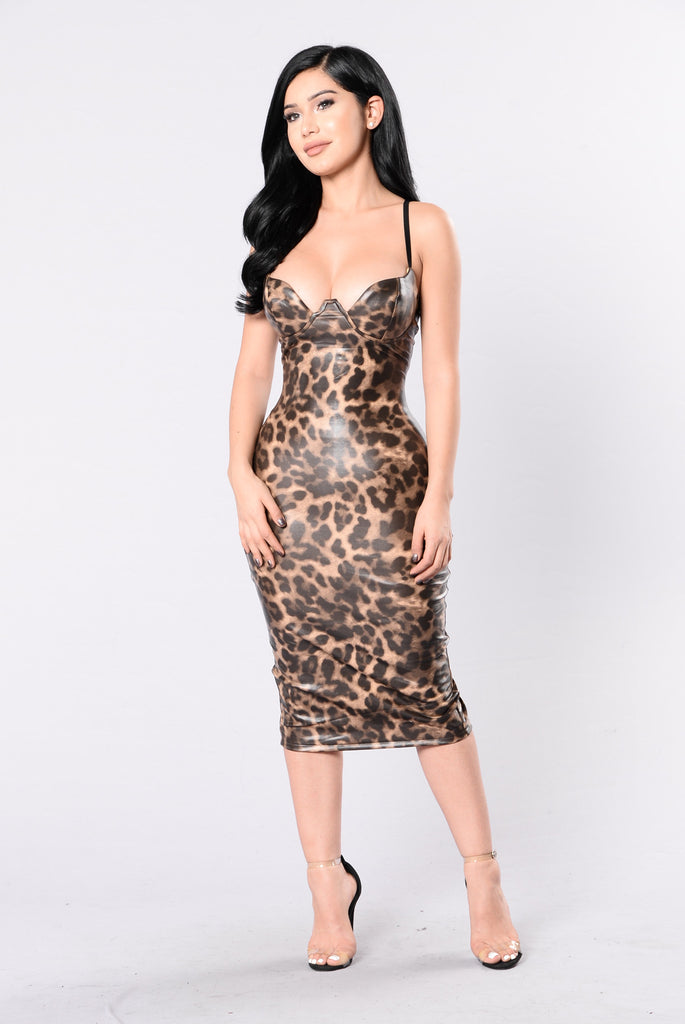 Party Animal Dress - Leopard