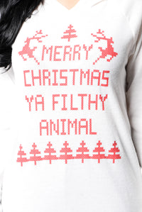 Filthy Animal Sweater - Ivory