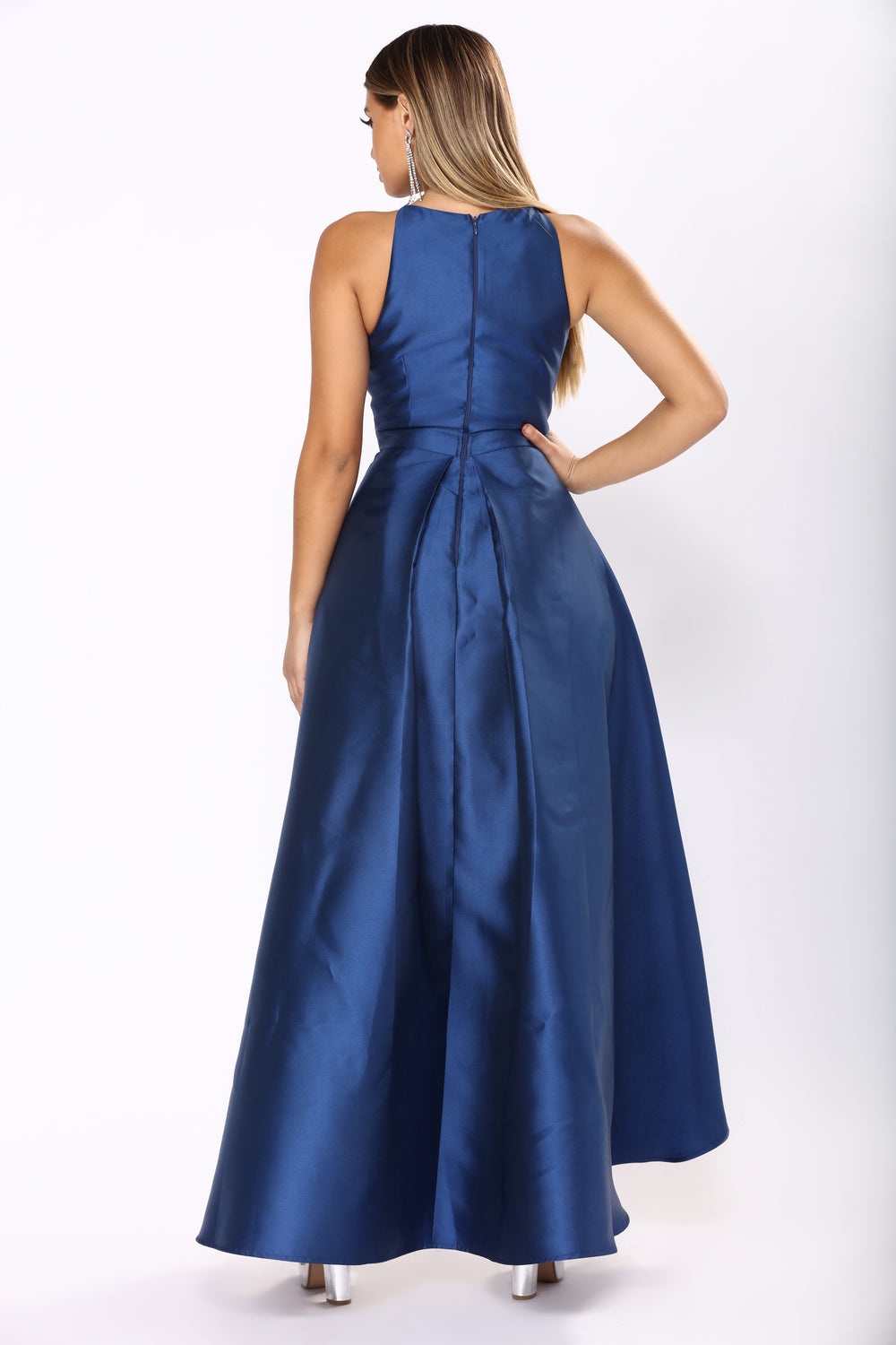Heartedly High Low Dress - Navy