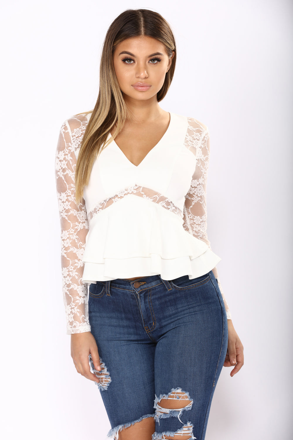 Lace And Grace Top - Ivory
