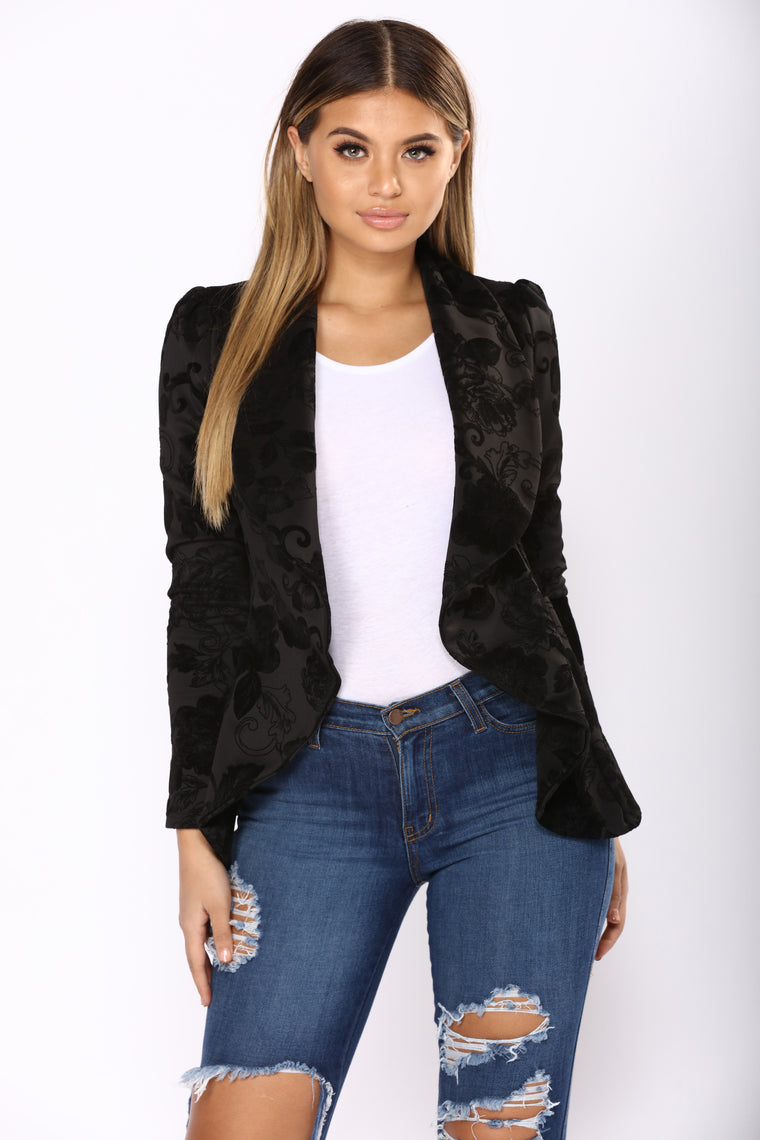 Meet And Greet II Blazer - Black