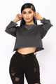 What You Deserve Crop Top - Black