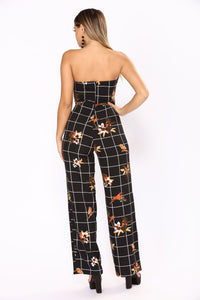 Birds Of Paradise Jumpsuit - Black Multi