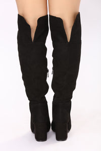 Reese Over The Knee Boot - Black
