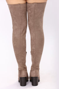 Callie Thigh High Boot - Taupe