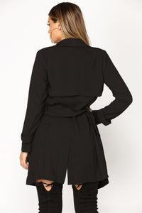 Classification Ring Belt Jacket - Black