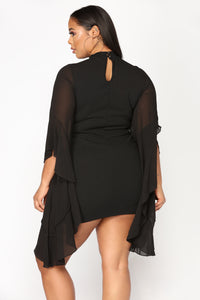 Talk With Your Hands Dress - Black Angle 8