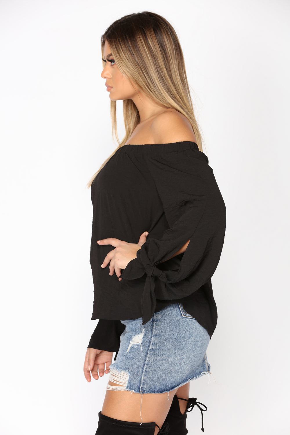 Dakota Off Shoulder Top - Black