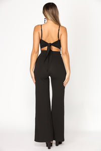 Bright Side Embroidered Jumpsuit - Black