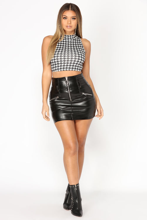 Get What I Want Moto Skirt - Black