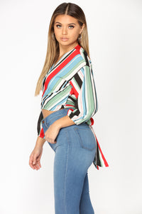 Jayne Striped Top - Multi