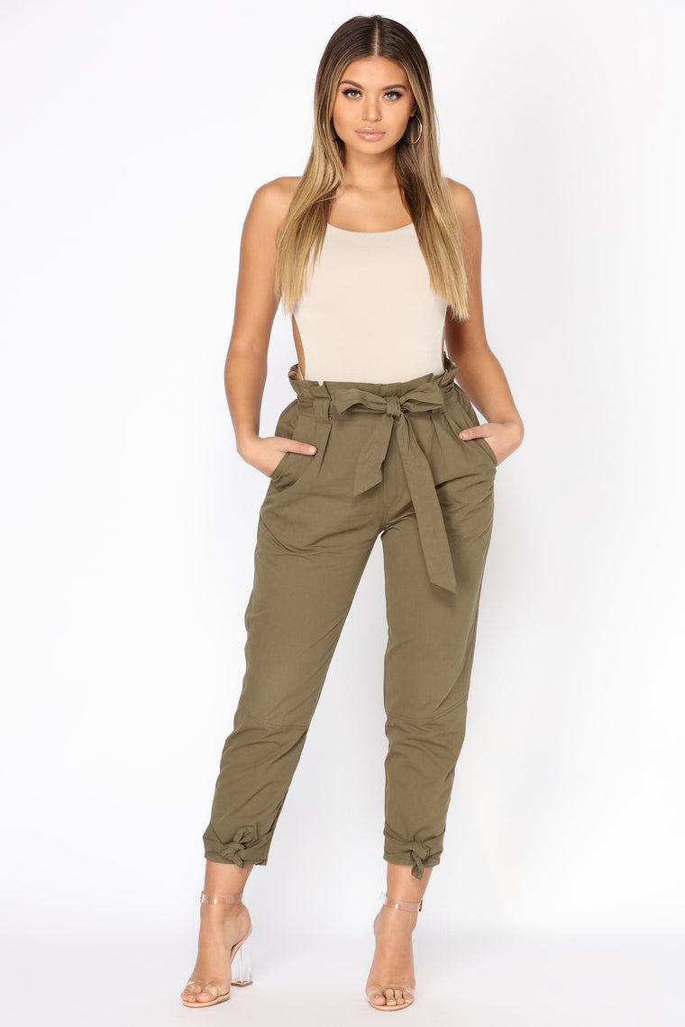 Going On An Adventure Cargo Pants - Olive