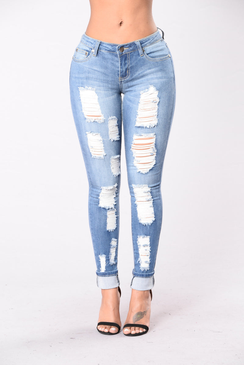 All The Girls Jeans - Medium Blue