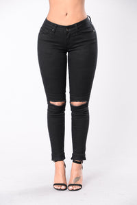Rough Around The Edges Jeans - Black