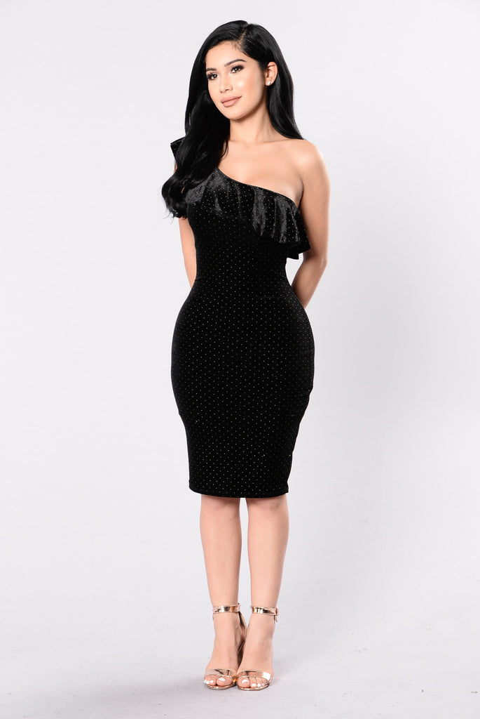 Disco Queen Dress - Black