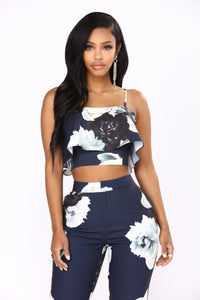 There You Grow Floral Set - Navy