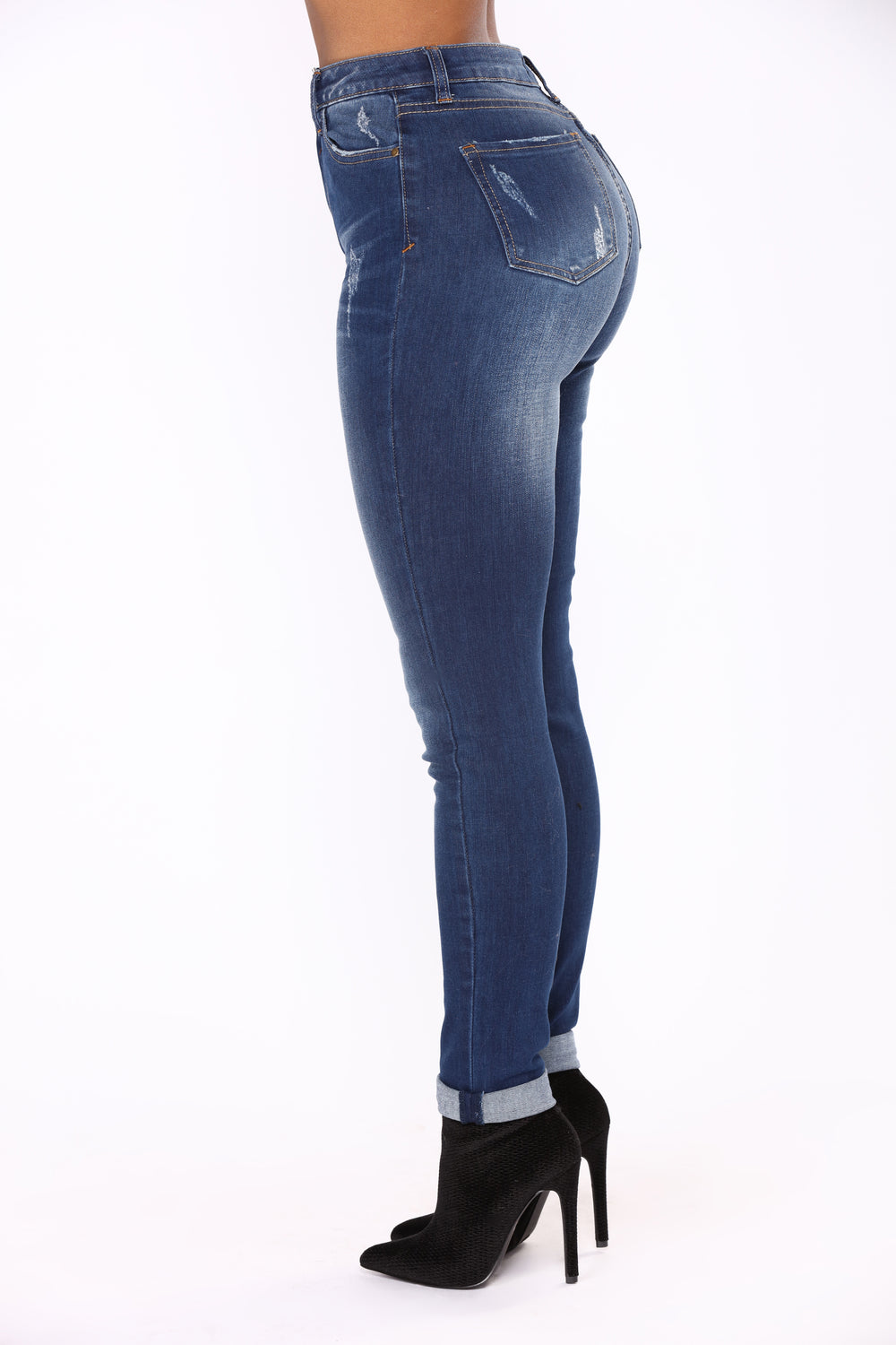 Andres Ankle Jeans - Medium Blue Wash