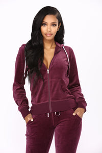 Next Gen Velour Jacket - Plum