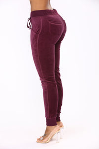 Next Gen Velour Jogger - Plum