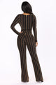 Feel It Still Jumpsuit - Black/Gold