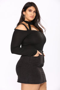 High Hopes Bodysuit - Black