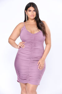 Shenzhen Ruched Dress - Lavender