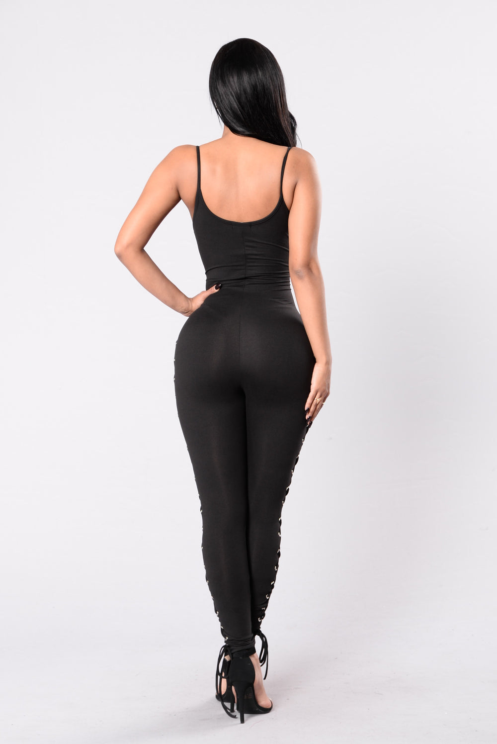 Fast In My Car Jumpsuit - Black