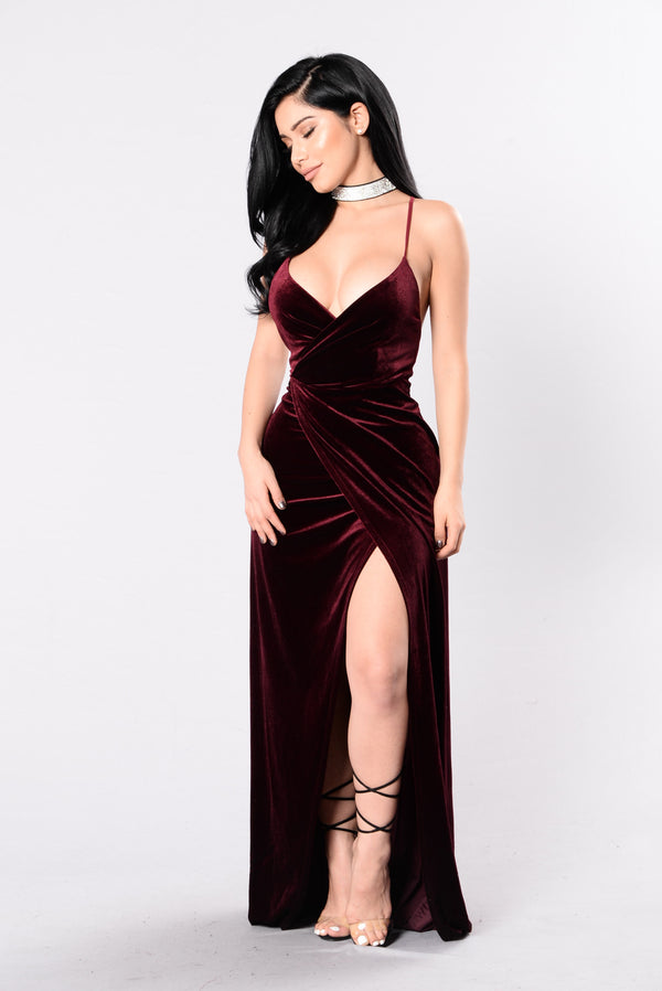 ccb8ed3b33d58 Wishful Thinking Dress - Burgundy