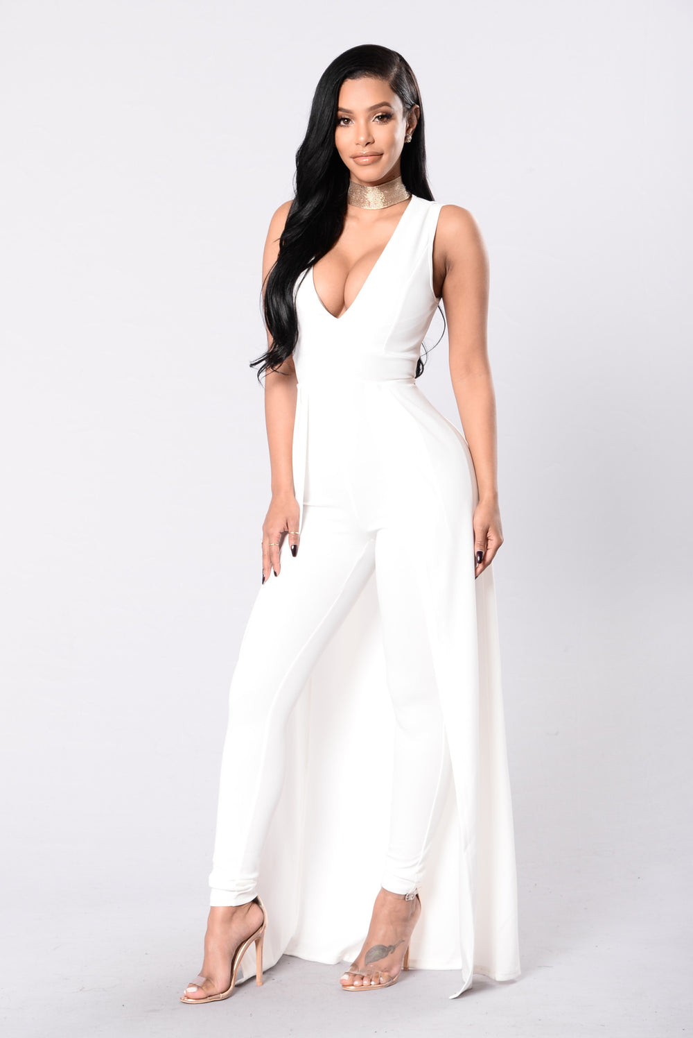 middle of things jumpsuit  ivory