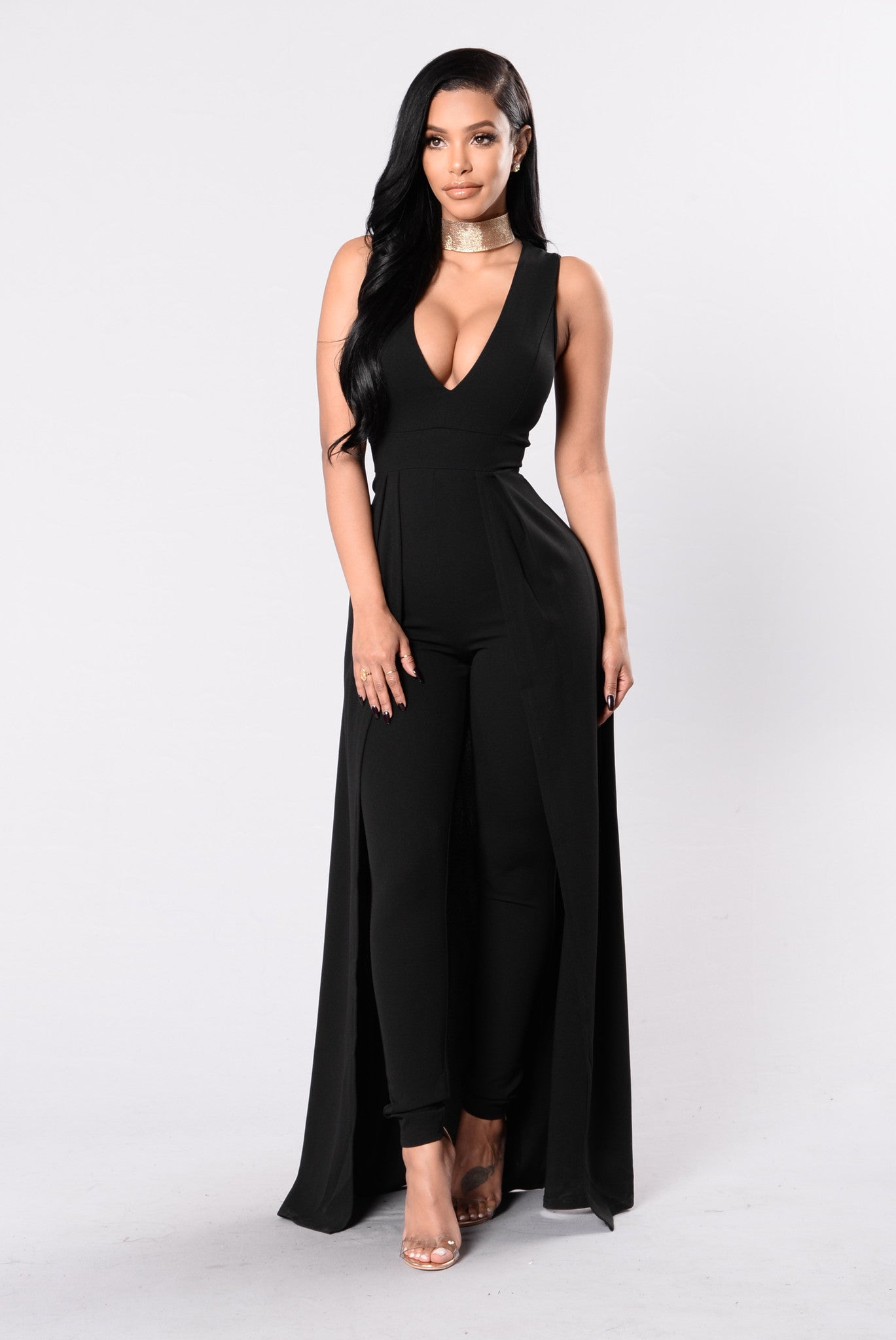 Middle Of Things Jumpsuit - Black