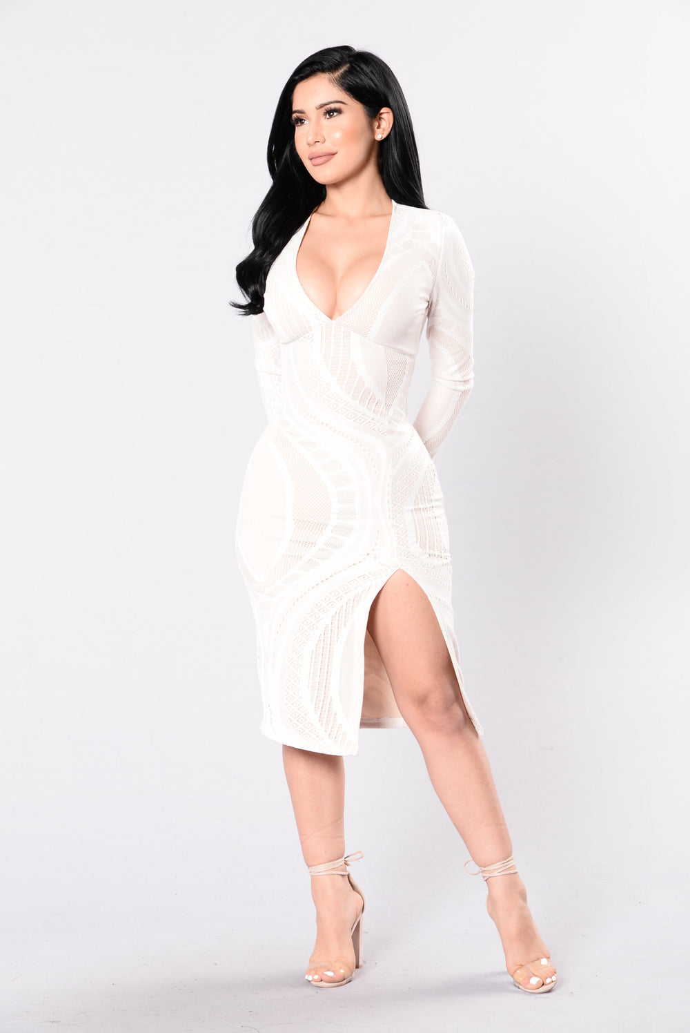 Texture Me Up Dress - White