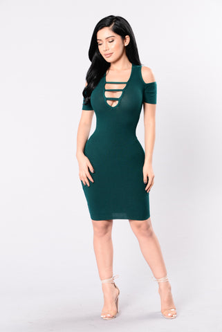 Spiritually Inclined Dress - Pine