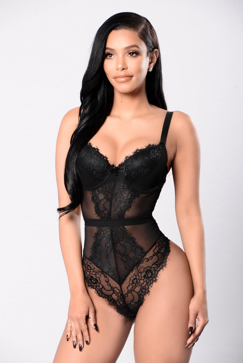 Annmarie Teddy Bodysuit - Black