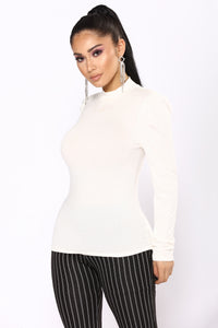 I'm Mocking You Mock Neck Top - Ivory