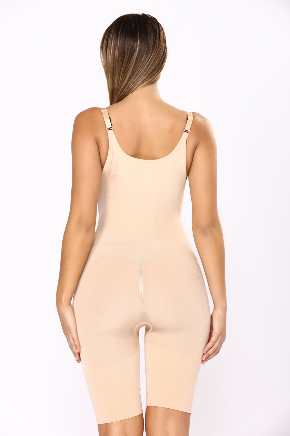Stay Here Don't Go Bodysuit Shapewear - Nude