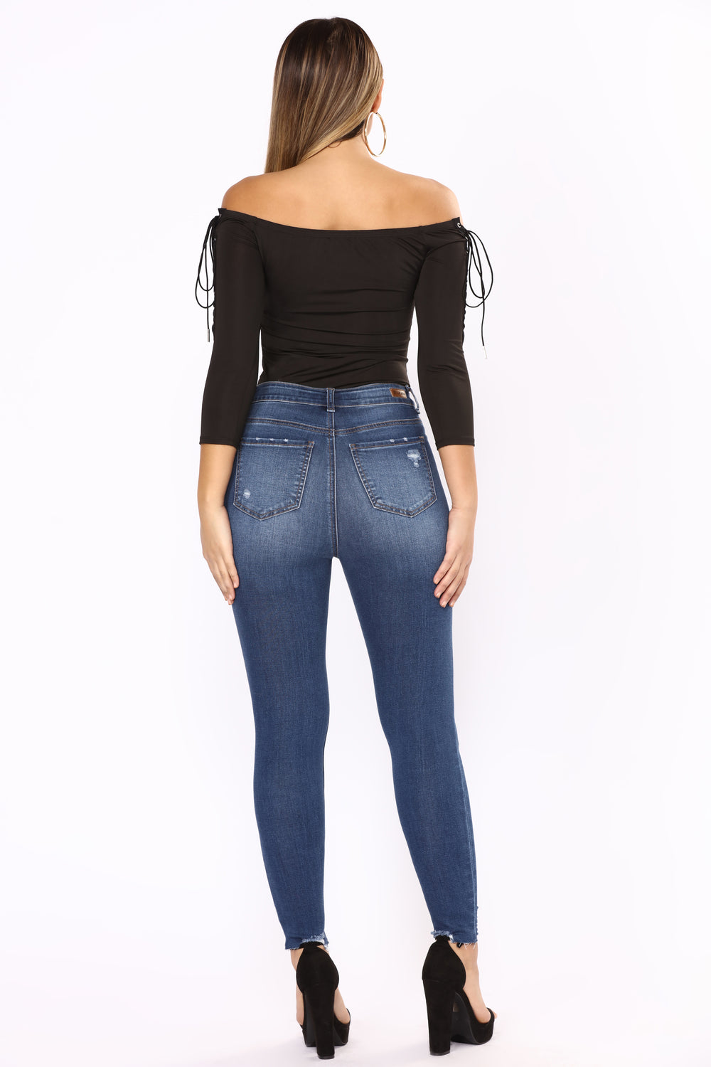 No Distressin' Over You Ankle Jeans - Medium Blue Wash