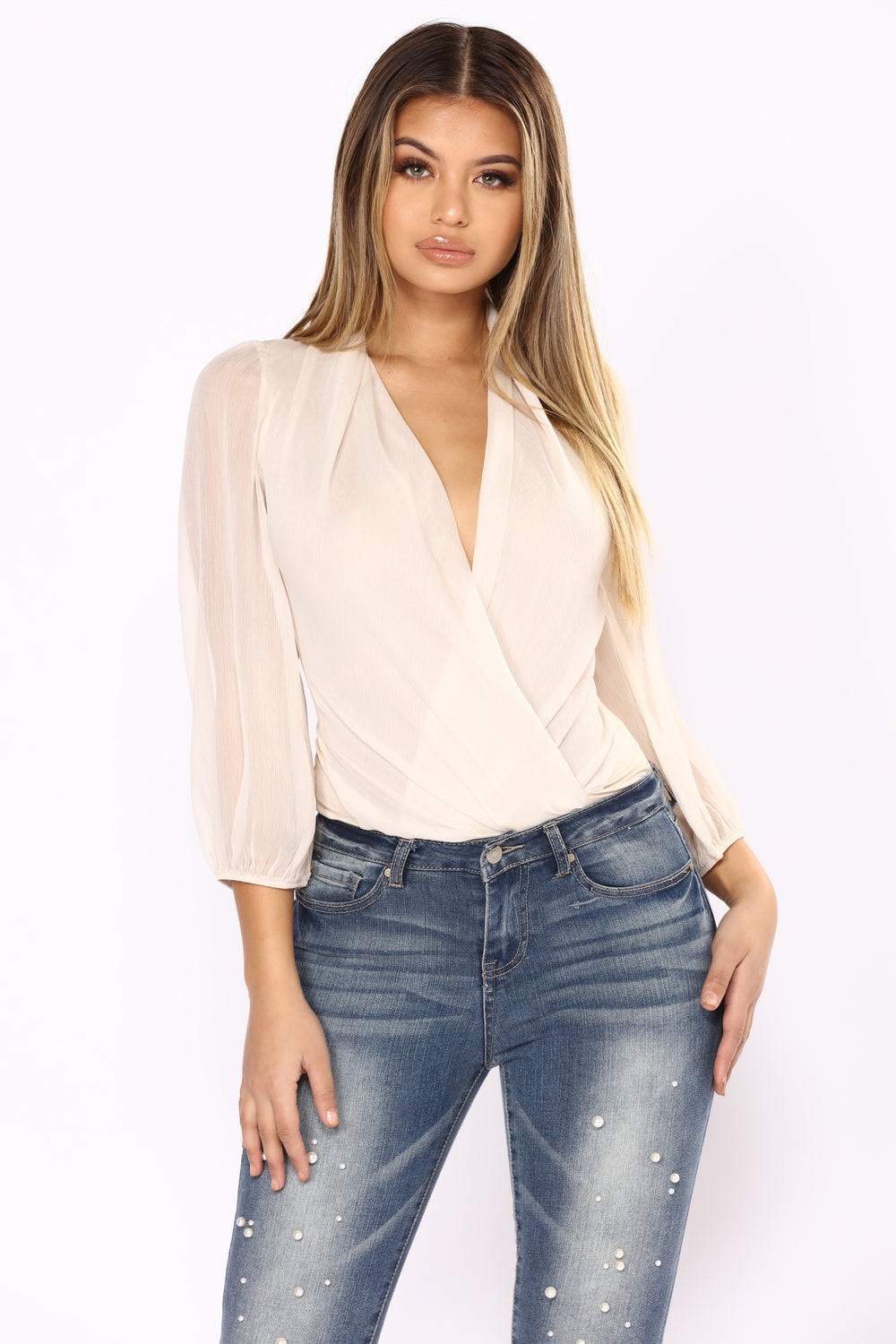 Go With The Flow Bodysuit - Ivory