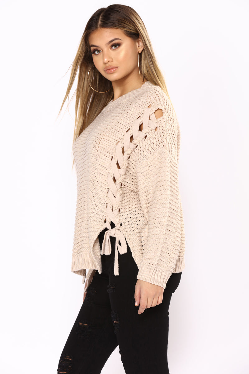 Want You To Need Me Sweater - Beige